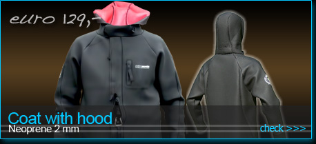 neoprene coat with hood for kiteboarding