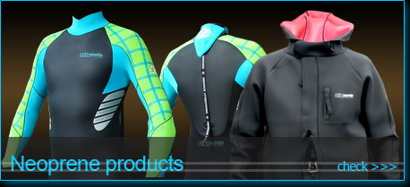 neoprene clothing for kiteboarding and other watersports