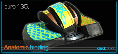 ANATOMIC bindings - footpads footstraps for kiteboard