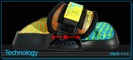 technology of aboards kiteboarding SFLS ANATOMIC footstraps footpads